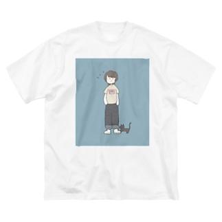ぬぬぬこ Big silhouette T-shirts