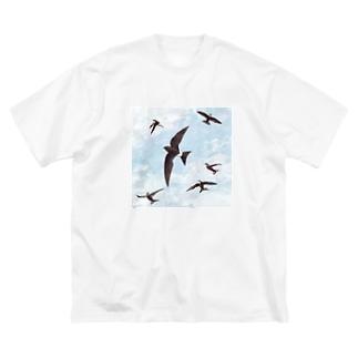 アマツバメ Big silhouette T-shirts