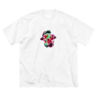 微生物っぽい Big silhouette T-shirts