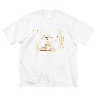 わだちゃん Big silhouette T-shirts