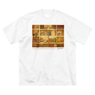 森の本棚(ブラウン) Big Silhouette T-Shirt