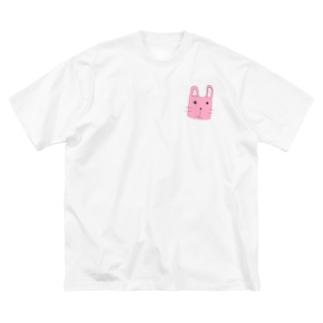 うさ~ぎ Big silhouette T-shirts