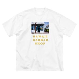 バーバーショップ T shirt Big silhouette T-shirts
