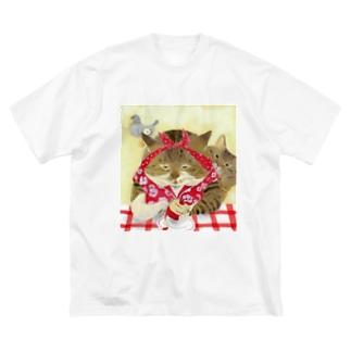 りんごを剥く姉 Big silhouette T-shirts