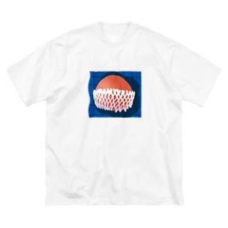 桃 Big silhouette T-shirts