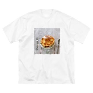 実家のホットケーキ Big silhouette T-shirts