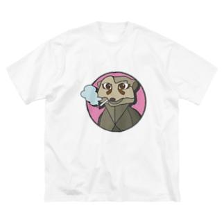 ミーアキャットのミーアさん Big silhouette T-shirts