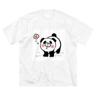 ぱぁあんだっ Big silhouette T-shirts