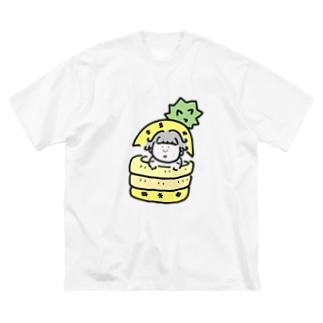 えだまるのちえみちゃん Big silhouette T-shirts
