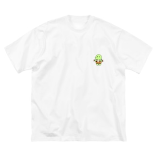 まん太 Big silhouette T-shirts