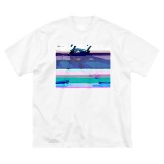 グリッチセーラーちゃん Big silhouette T-shirts
