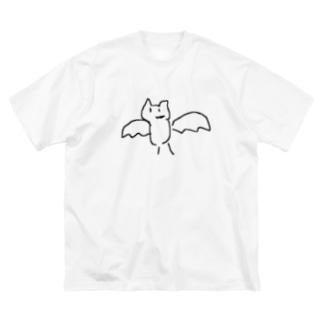 こうもり Big silhouette T-shirts