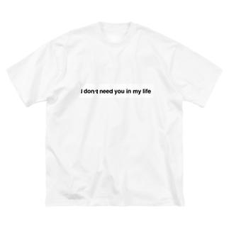 あいどんにーじゅーいんまいらいふ Big silhouette T-shirts