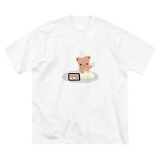 クッキーとクマさん Big silhouette T-shirts
