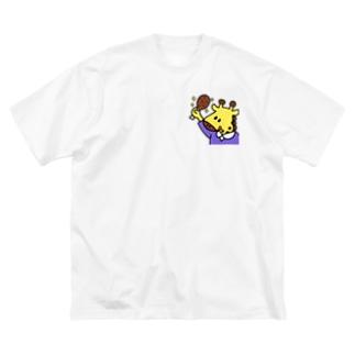 おにくだいすき!きぢんちゃん! Big silhouette T-shirts