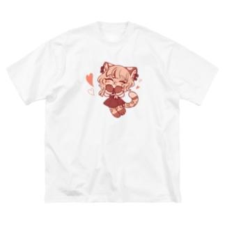 ラブ♡なカベルネ Big silhouette T-shirts