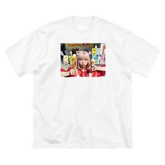 くいしんぼう Big silhouette T-shirts