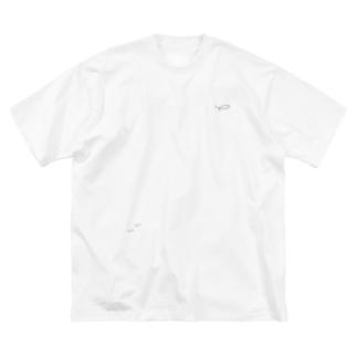 おさかな3匹 Big silhouette T-shirts