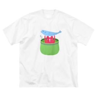 とったじょ君 Big silhouette T-shirts