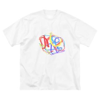 シフォンケーキ Big silhouette T-shirts