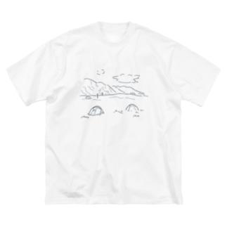 マウントクックの麓で Big silhouette T-shirts