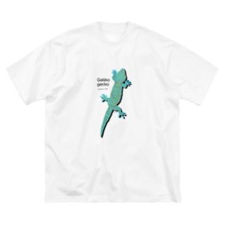 トッケイひっつき Big silhouette T-shirts