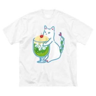 みつあみしっぽ ねこ クリームソーダ Big Silhouette T-Shirt