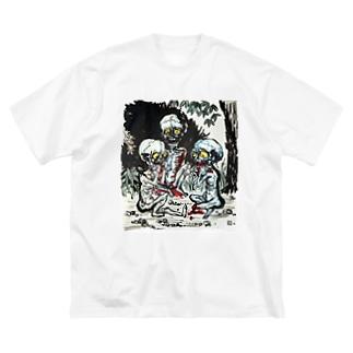 餓鬼 Big silhouette T-shirts