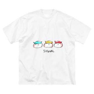 すし信号 Big silhouette T-shirts