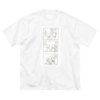 箒星 Big silhouette T-shirts