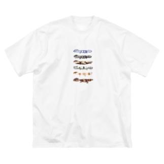 真夜中のテンション Big silhouette T-shirts