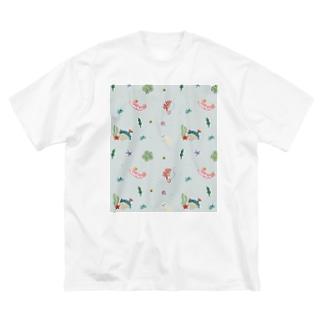 海のいきもの Big silhouette T-shirts