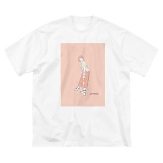 三茶ガール#6 Big silhouette T-shirts