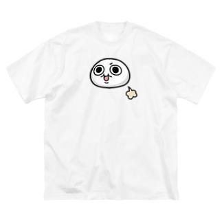 モチゾーおなら(白フチなし) Big silhouette T-shirts