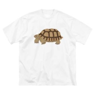 けづめりくがめさん 文字なし Big silhouette T-shirts