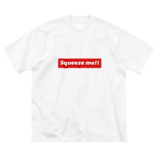 揉んで。 Big silhouette T-shirts
