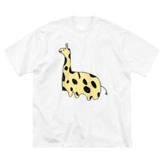 きりんちゃん Big silhouette T-shirts