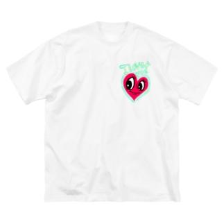 ILOVE me Big silhouette T-shirts