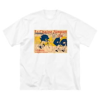 ロートレック シンプソンチェーン Big silhouette T-shirts