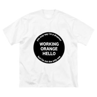 ワーキングオレンジハローTシャツ Big silhouette T-shirts