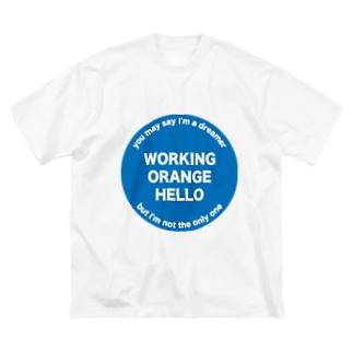 ワーキングオレンジハローTシャツ Big T-shirts
