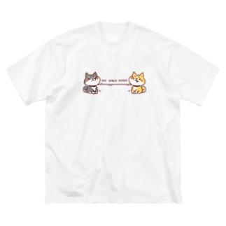 NO WALK DOGS Big silhouette T-shirts