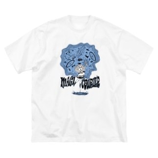 """MAGI COURIER"" blue #1 Big Silhouette T-Shirt"