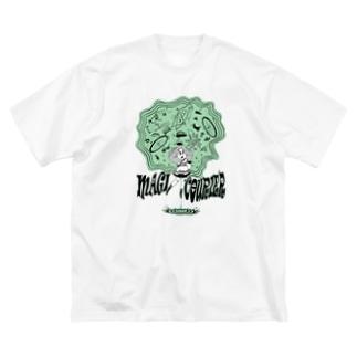"""MAGI COURIER"" green #1 Big Silhouette T-Shirt"