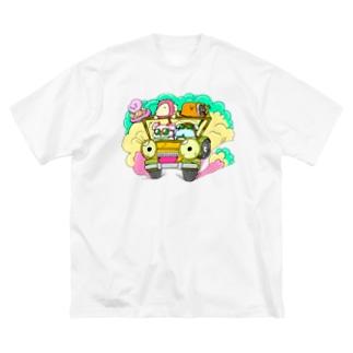 ドライブしちゃうよ。【カラー版】 Big silhouette T-shirts