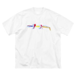 子どもの絵をオリジナル雑貨にします【aad (アード)】の【杉岡さま専用】Tシャツ2種 Big Silhouette T-Shirt