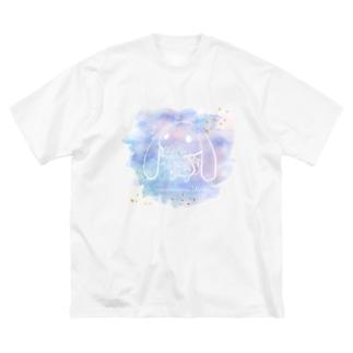 さくらいろのうさぎのさくらいろのうさぎ Big silhouette T-shirts