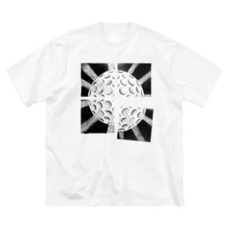 3dDots.monotone Big silhouette T-shirts