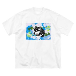 黑柴 Big T-shirts