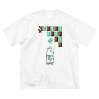 ミントミルクチョコレート Big silhouette T-shirts